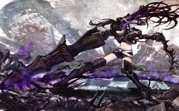 Anime. Девушка. Black Rock Shooter