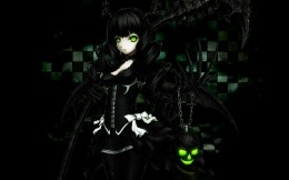 Anime. Девушка. Black Rock Shooter. Dead Master