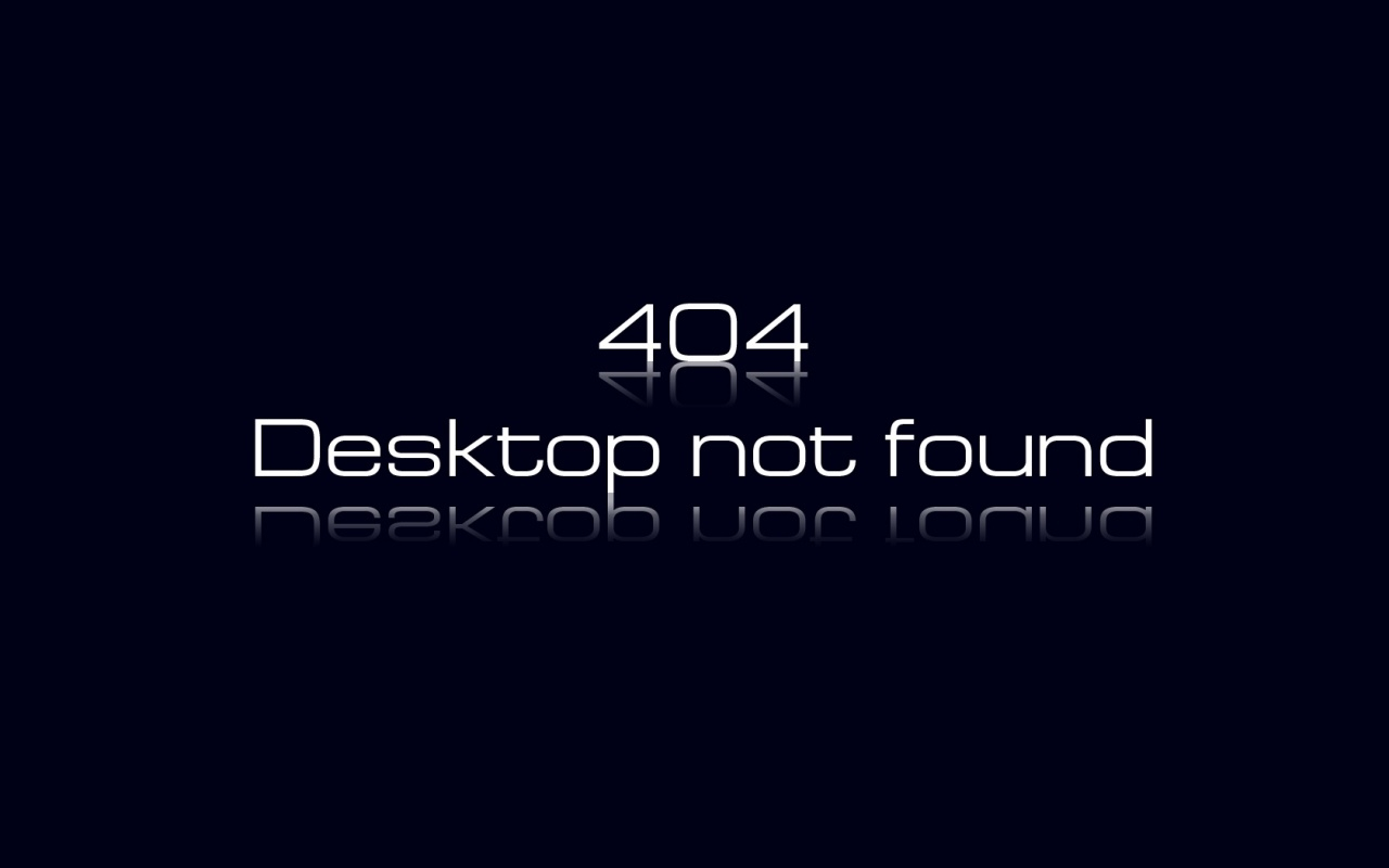 Ошибка 404, Desktop not found
