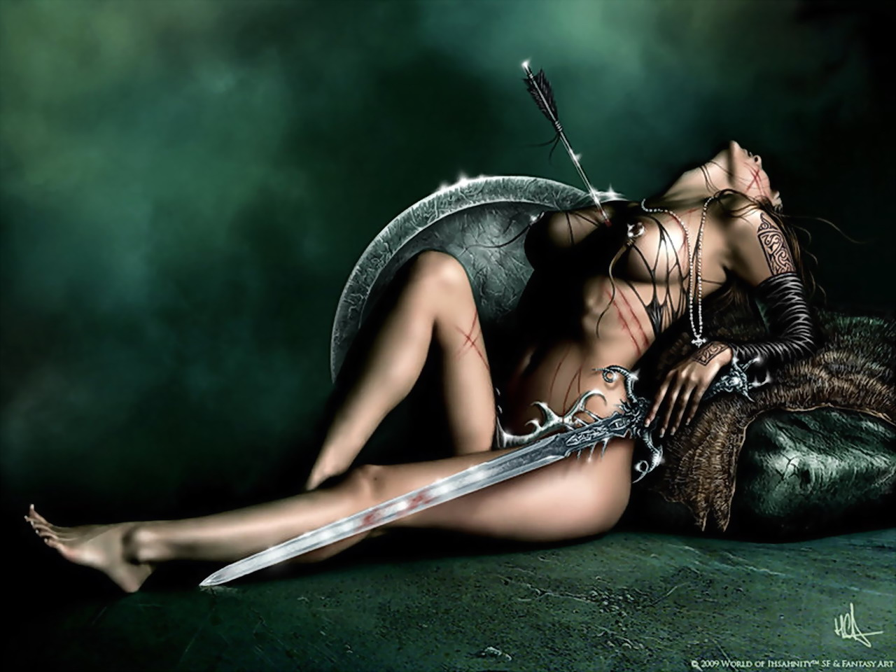 This Colombiana erotic woman warrior fantasy art crap