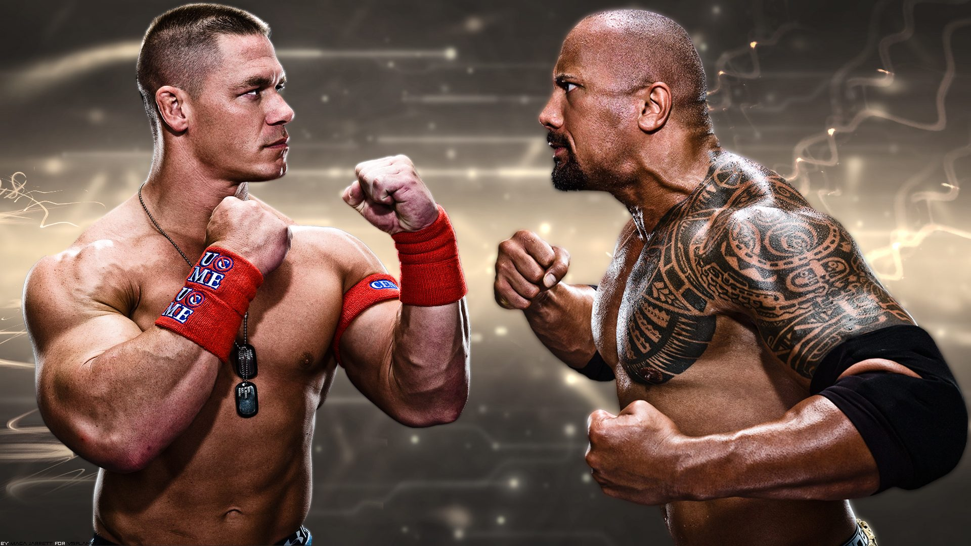 John Cena vs Dwayne Johnson